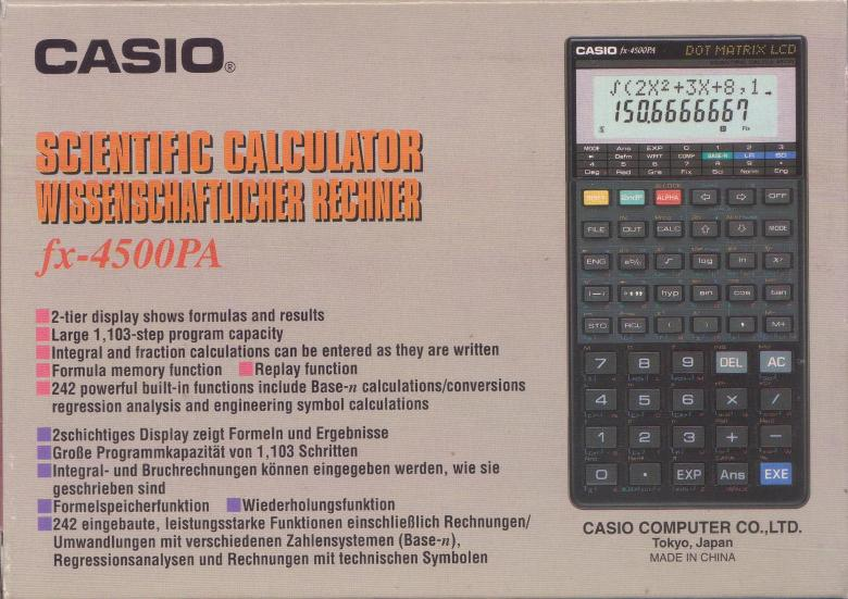 Casio fx-3600pv manual